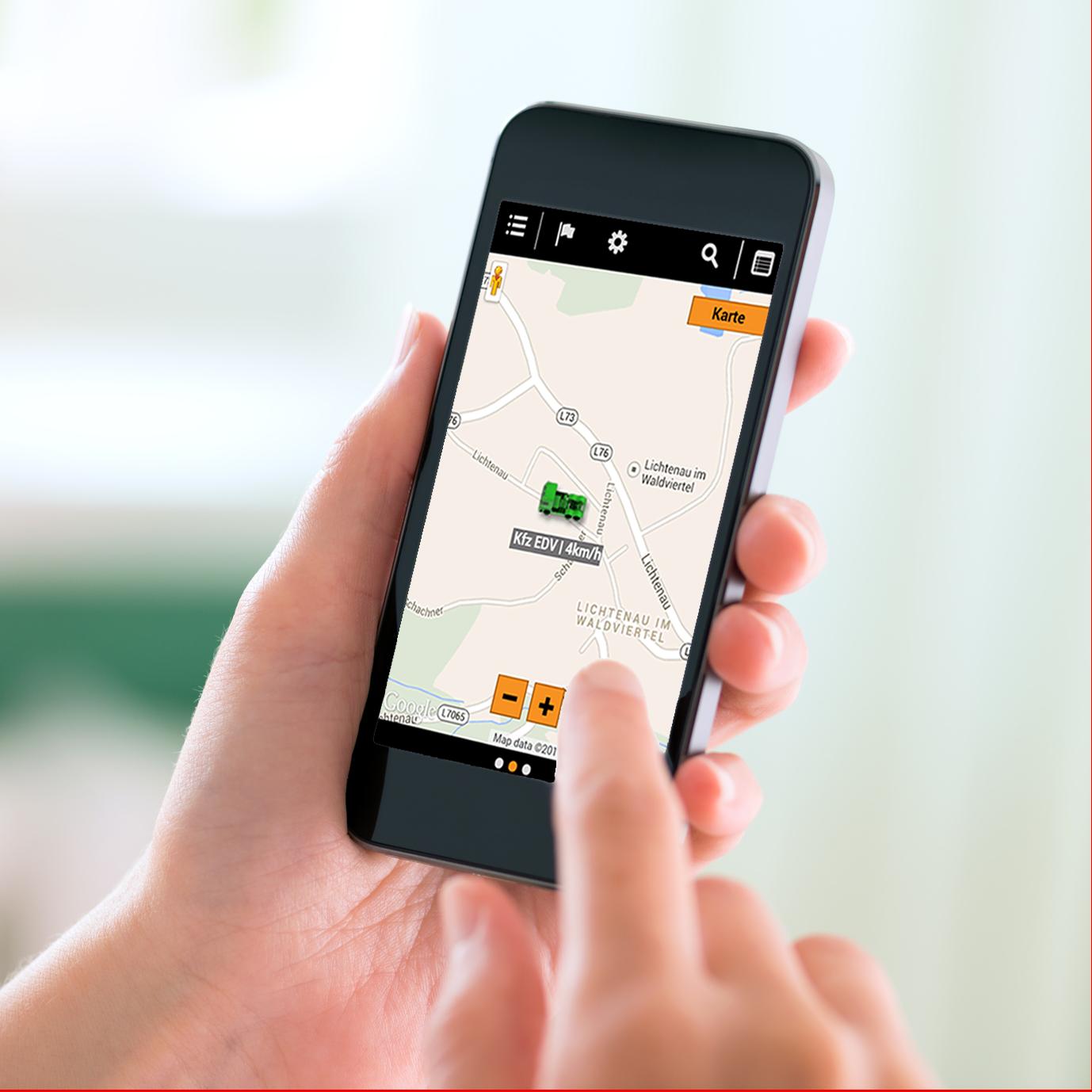 TrackBase App für mobile Ortung